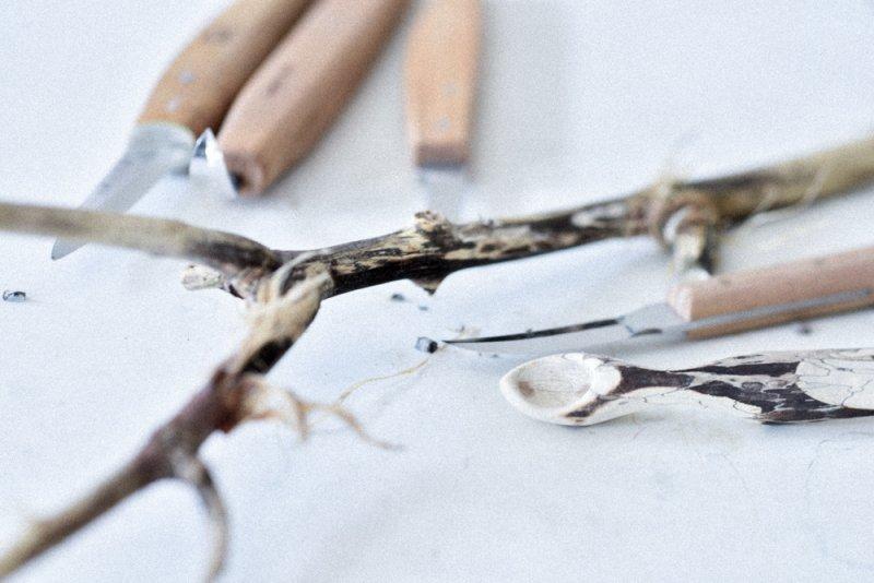 Schnitzen mit Giraffenholz, Xylaria longipes