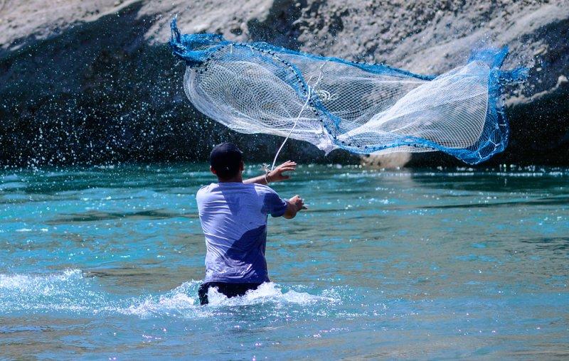 Fischer mit Netz Anatolien